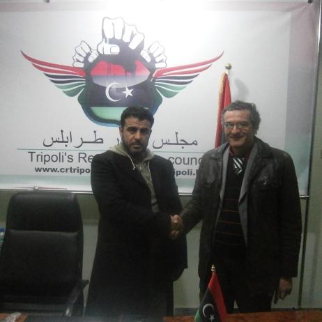 Tripoli, Libia, con il Consiglio dei rivoluzionari di Tripoli (febbraio 2012)