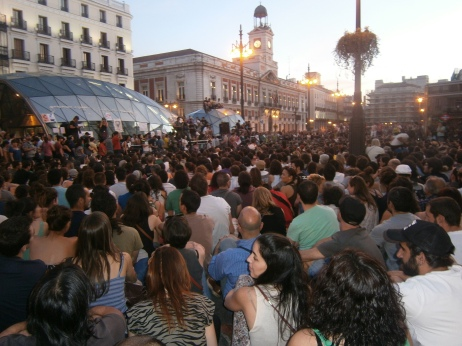 Puerta del Sol, Madrid, primo anniversario del movimento degli Indignados (maggio 2012)