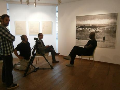 Con Lilian Thuram al forum IndignaCtion!, Lussemburgo (settembre 2012)
