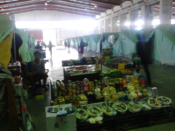 Campo profughi a Salonicco (2016